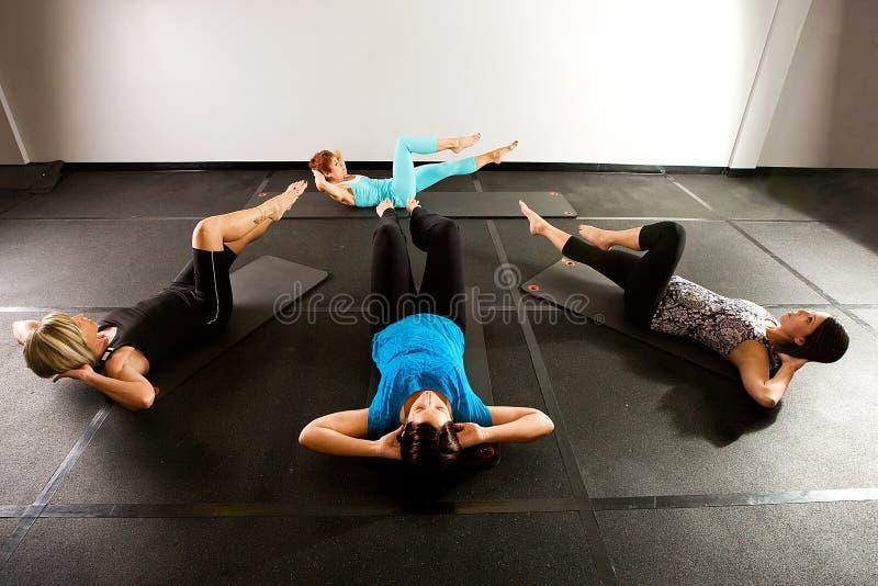 De Klasse van Pilates stock foto's