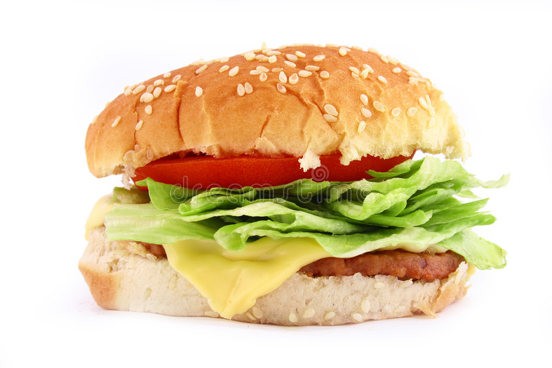 De klassieke Hamburger van het Rundvlees royalty-vrije stock foto's