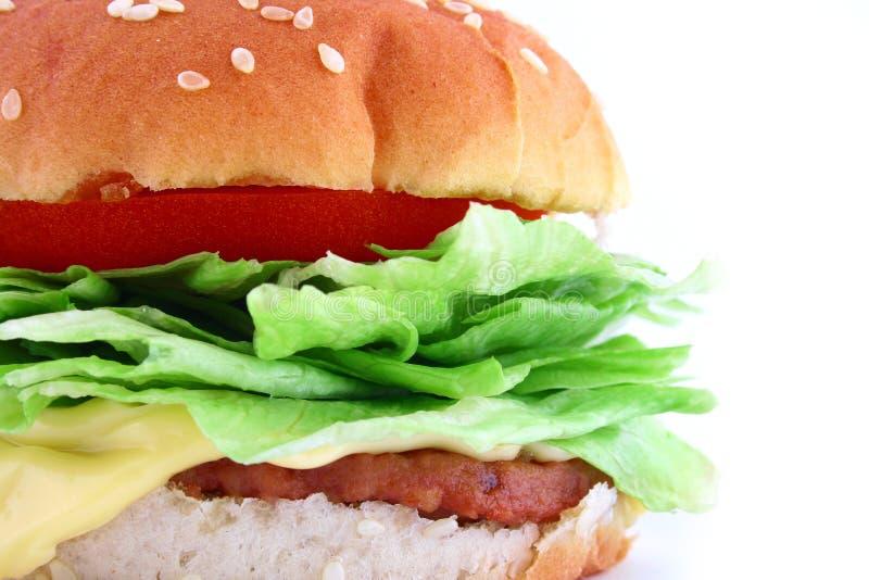 De klassieke Hamburger van het Rundvlees stock foto
