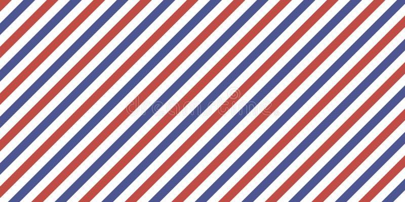 De klassieke retro achtergrond diagonale strepen rode blauwe kleur, vectorkleurenstrepen markeert, luchtpost royalty-vrije illustratie