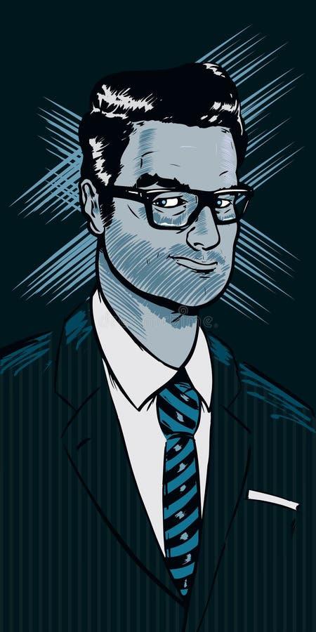 De klassieke zakenman van de jaren '50stijl stock illustratie