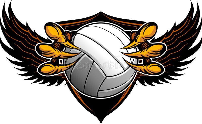 De Klauwen en de Klauwen van het Volleyball van de adelaar vector illustratie