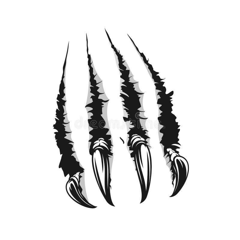De klauwscheur van de dierenkras van document vector royalty-vrije illustratie