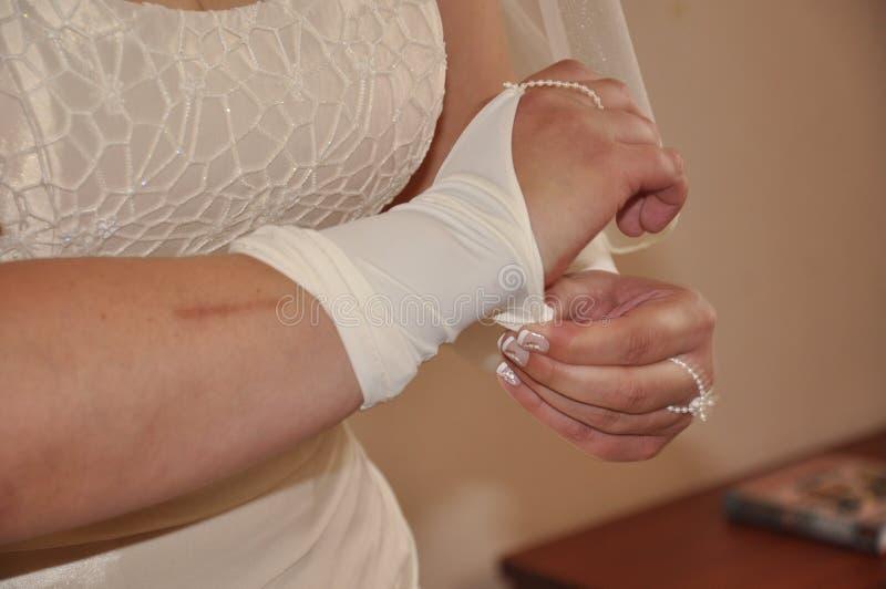 De kleding van de bruid stock afbeeldingen