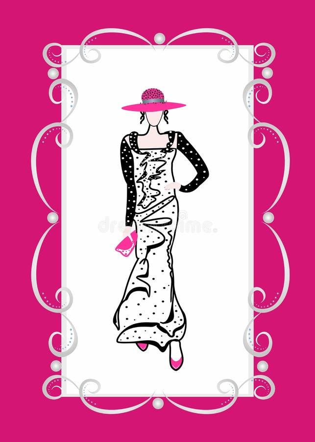 De kleding van de manier voor meisjes royalty-vrije illustratie