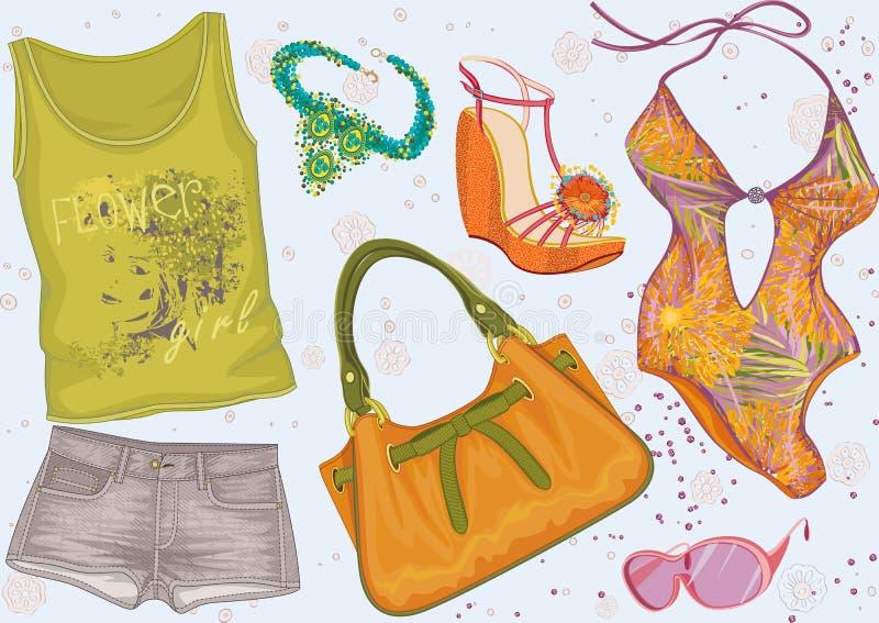 De kleding van de zomer vector illustratie