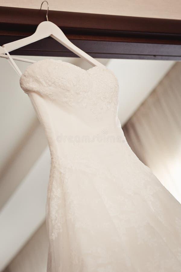 De kleding van het bruid` s huwelijk royalty-vrije stock foto