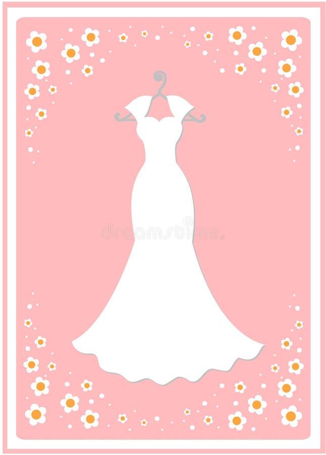 De kleding van het huwelijk op een hanger stock illustratie
