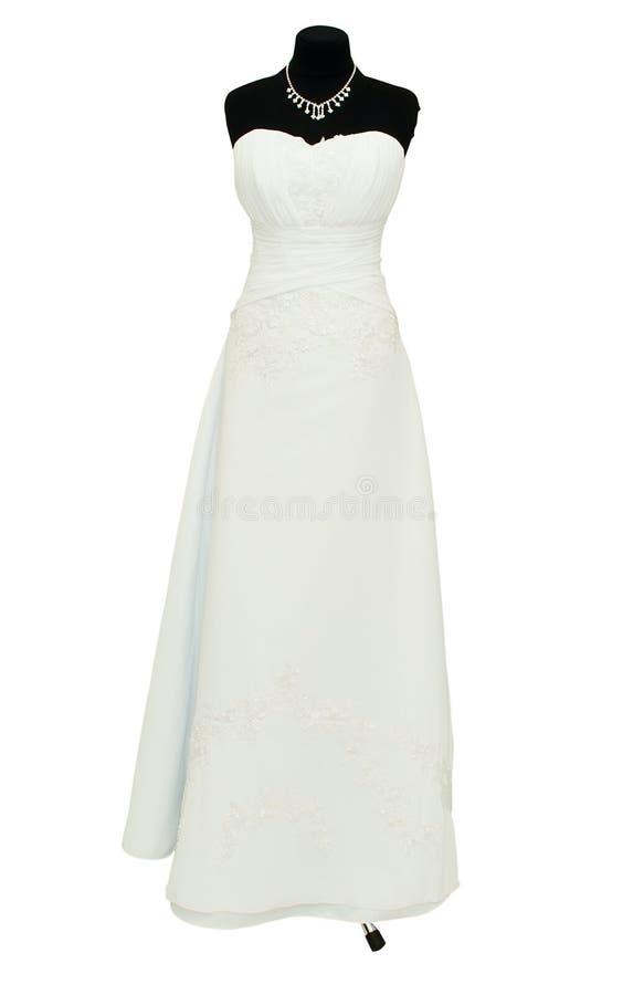 De kleding van het huwelijk op een ledenpop stock foto