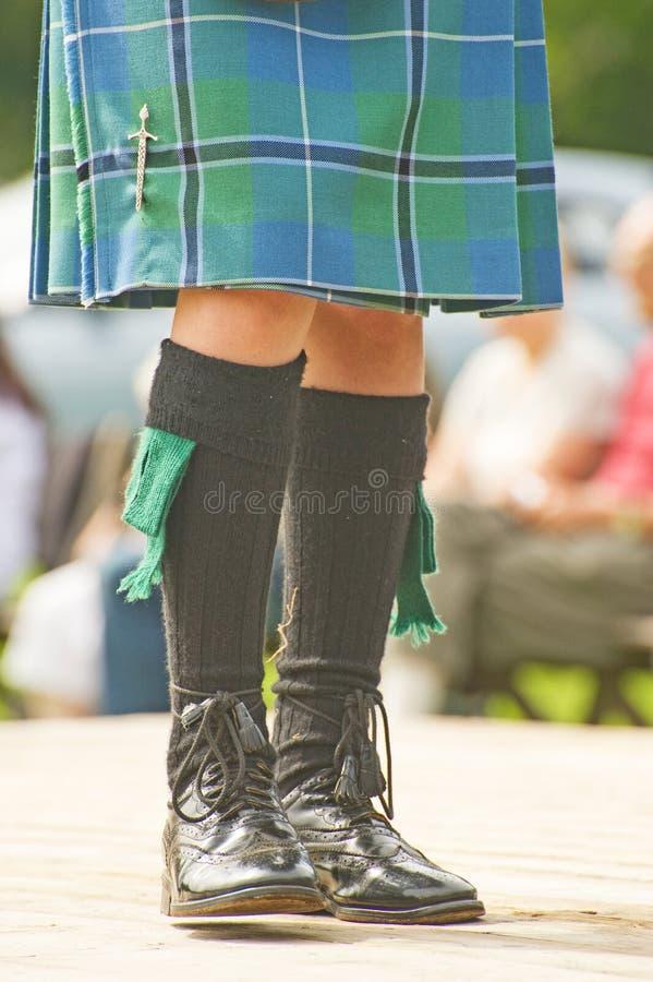 De kledingsdetail van het hoogland. stock fotografie