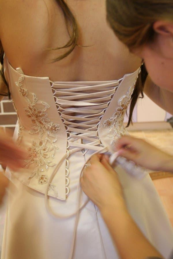 De kledingskorset van het huwelijk royalty-vrije stock afbeelding
