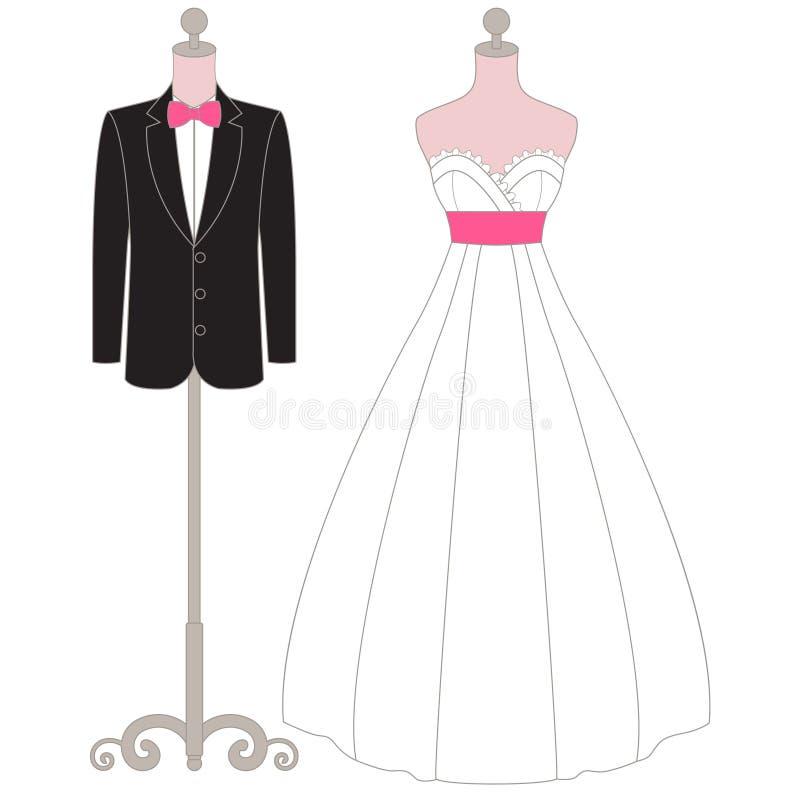 De Kledingsledenpop van het pastelkleurhuwelijk stock afbeeldingen