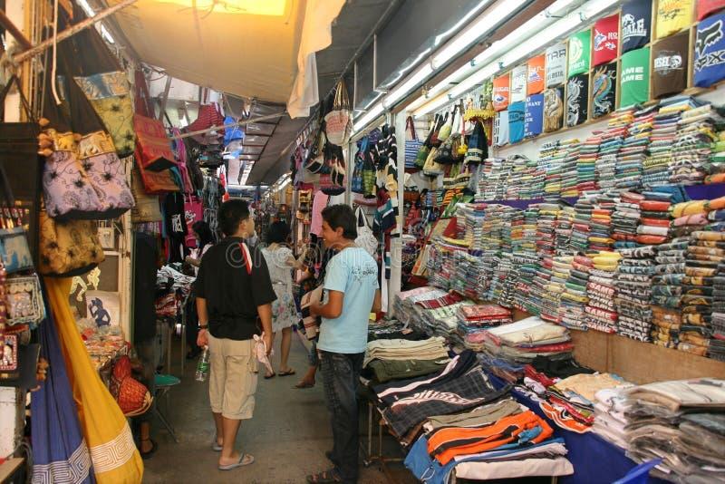De kledingsmarkt in phuketstad, Thailand royalty-vrije stock afbeelding