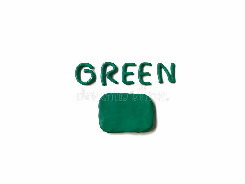 de klei van de rechthoekplasticine, groen tekstdeeg, toespraakbel royalty-vrije stock fotografie