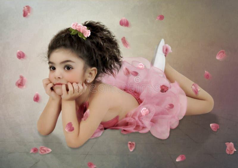 De Kleine Ballerina royalty-vrije stock fotografie