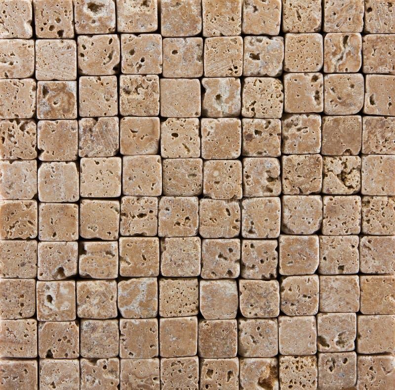 De kleine Ceramische Betegelde Achtergrond van de Steen Baksteen stock afbeeldingen