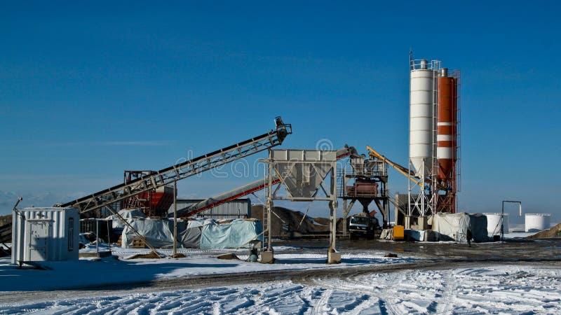 De kleine Fabriek van het Cement royalty-vrije stock foto's