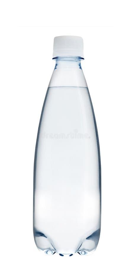 De kleine fles van het glaswater royalty-vrije stock foto's