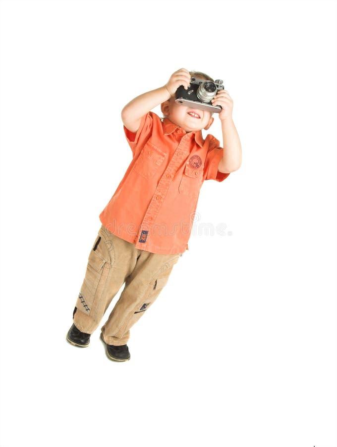 De kleine fotograaf stock foto