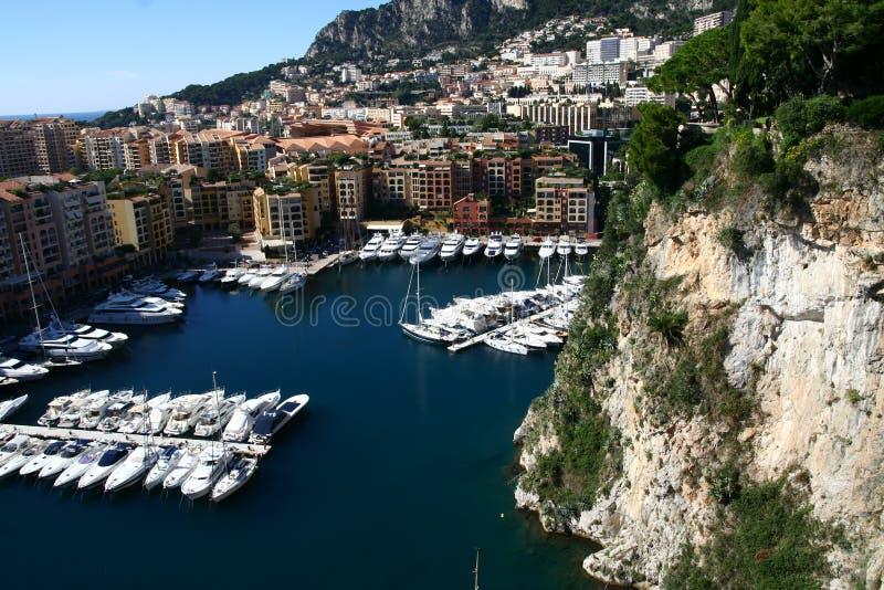 De kleine haven van Monaco royalty-vrije stock foto's