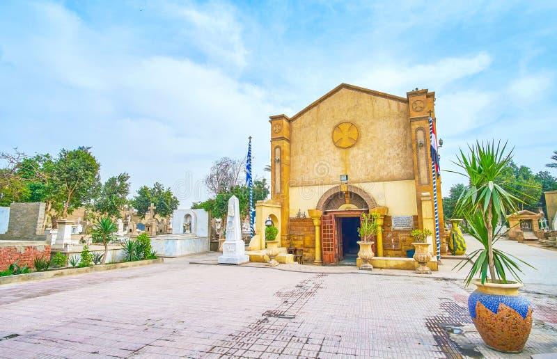 De kleine Kerk in Koptisch Kaïro, Egypte stock afbeeldingen