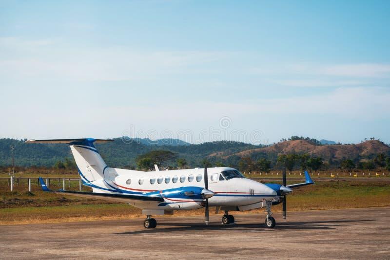 De kleine Koning Air 350 van vliegtuigenbeechcraft royalty-vrije stock foto's