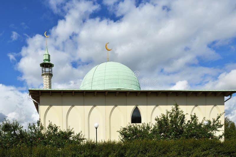 De kleine Moskee van Uppsala stock afbeelding