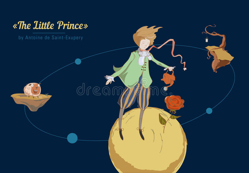 De kleine Prins royalty-vrije illustratie