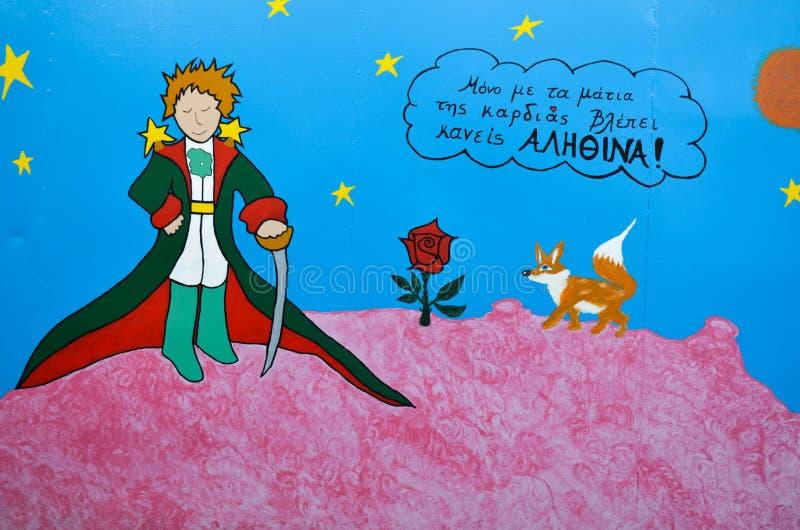De Kleine Prins en de vos royalty-vrije illustratie