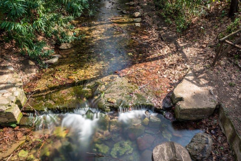 De kleine rivier in Fodele Kreta Griekenland stock fotografie