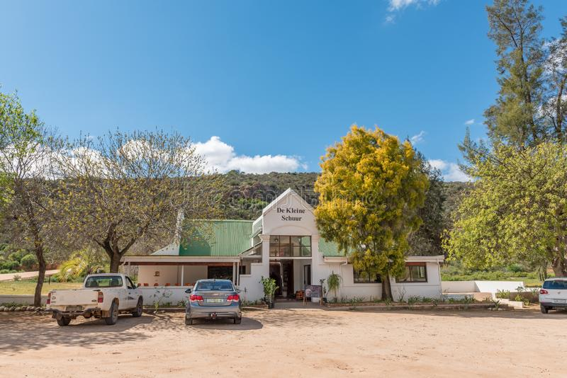 De Kleine Schuur Road Stal between Citrusdal and Clanwilliam. CLANWILLIAM, SOUTH AFRICA, AUGUST 22, 2018: De Kleine Schuur Road Stall, next to road N7, between stock photos