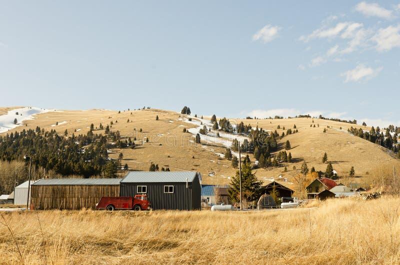 De kleine Stad van Montana stock afbeeldingen