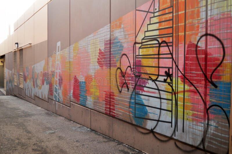 De kleine steeg voor mensen die gaat naar de wandelgalerij van de Hooistraat in Perth, Australië lopen stock fotografie