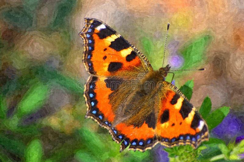 De kleine vlinder van de Schildpad royalty-vrije stock foto's