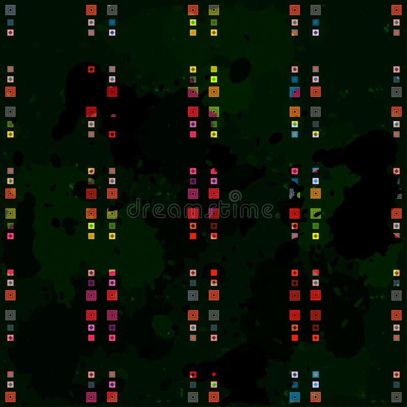 De kleine voorwerpen kleurden geometrisch abstract naadloos patroon stock illustratie