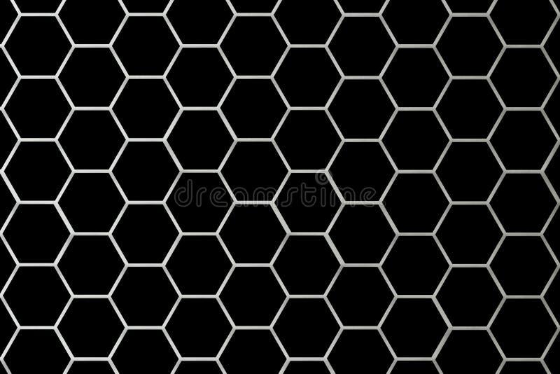De Kleinere Cellen van het Net van het metaal vector illustratie