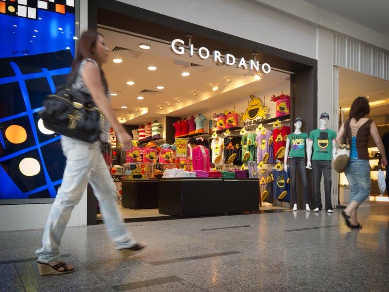 De kleinhandelsafzet van Giordano