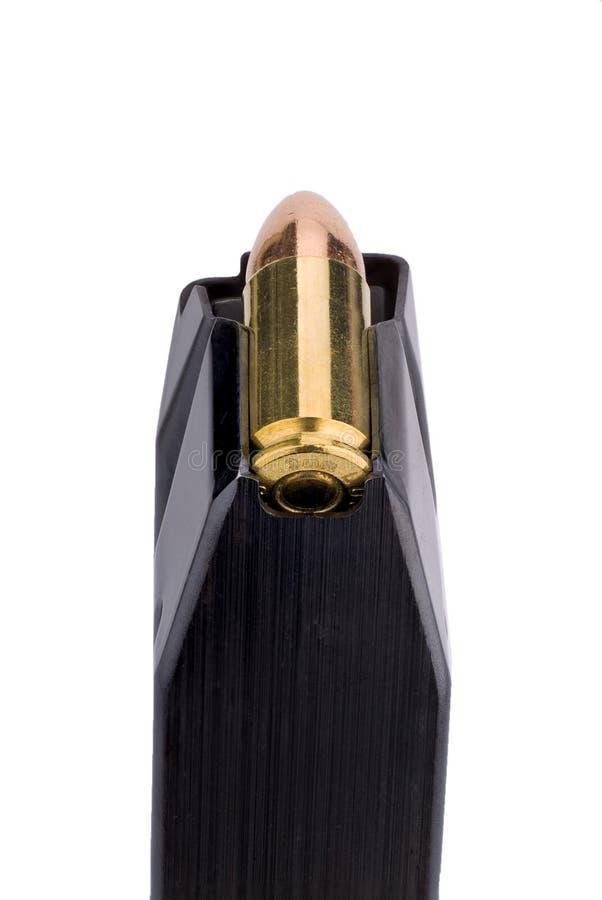 de klem van het 9 mmpistool stock afbeelding