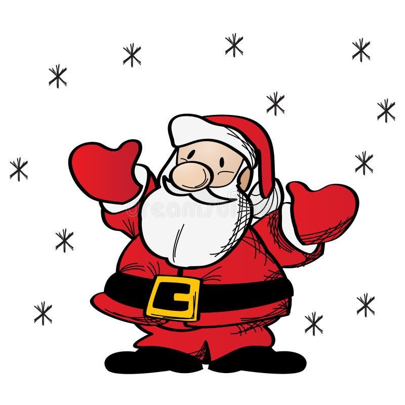 De klemart. van de Kerstman stock illustratie