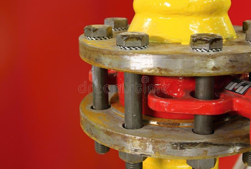 De klep van het gas stock afbeelding