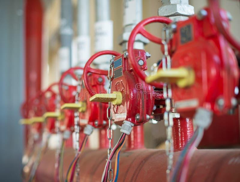 De klep van systeem Industrieel van brandblus stock foto