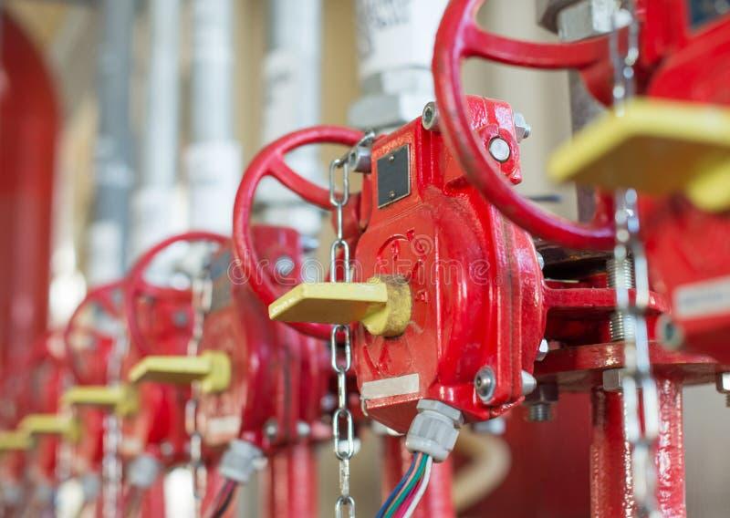 De klep van systeem Industrieel van brandblus royalty-vrije stock afbeeldingen