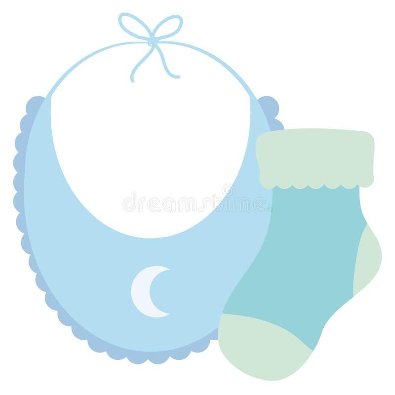 De kleren van de babyslab met sok vector illustratie