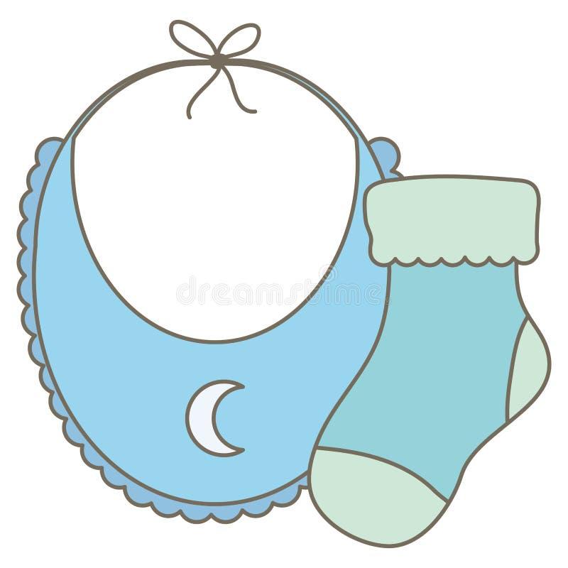 De kleren van de babyslab met sok royalty-vrije illustratie
