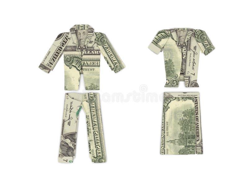 De kleren van de dollar royalty-vrije stock fotografie