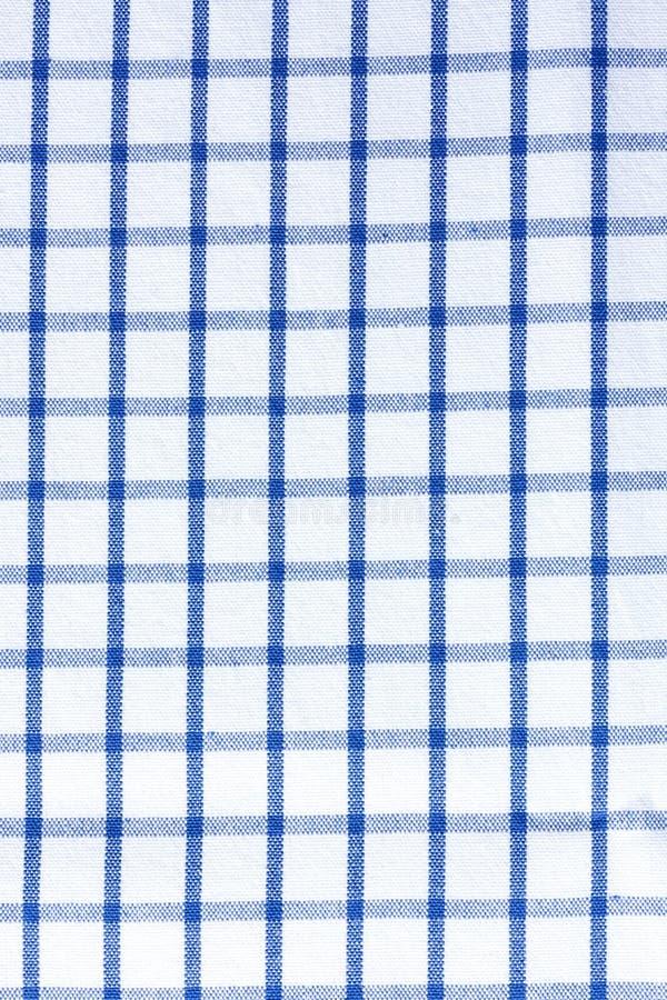 De kleren van de plaidlijst - Blauw Stoffenkatoen royalty-vrije stock fotografie