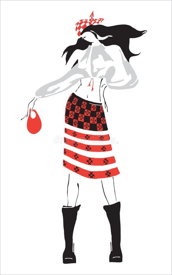 De kleren van de tekening. stock illustratie