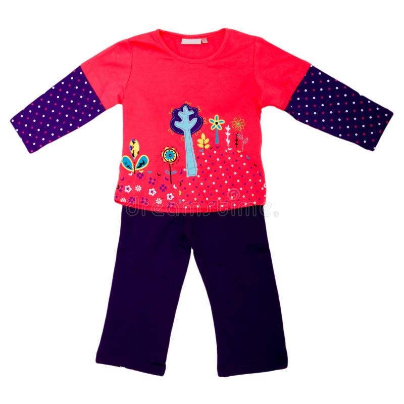 De kleren van kinderen stock foto