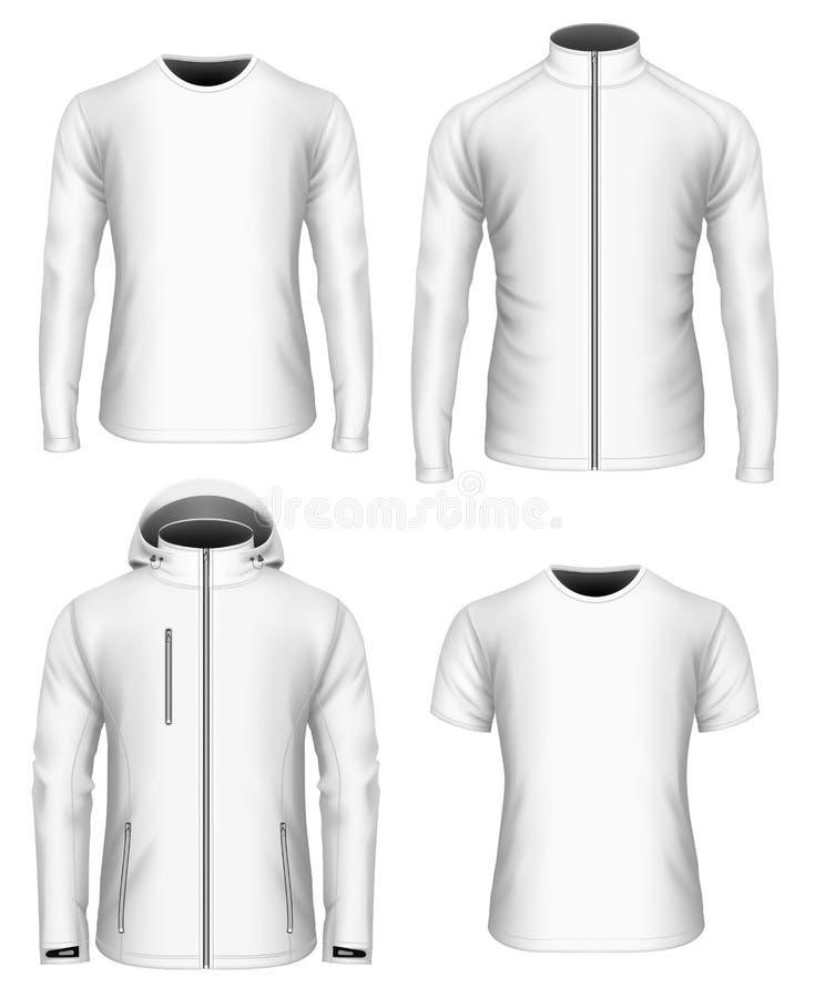 De kleren vectorinzameling van mensen wit royalty-vrije illustratie