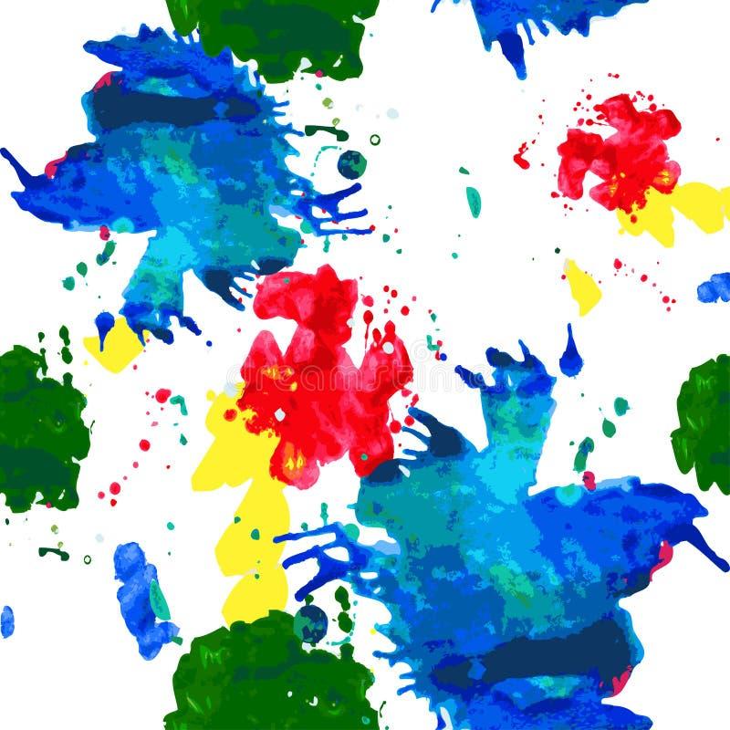 De kleur bevlekt naadloos patroon royalty-vrije illustratie